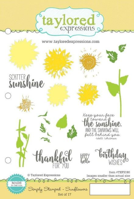 TEFS190 ~ SIMPLY STAMPING - SUNFLOWERS ~ Taylored Expressions